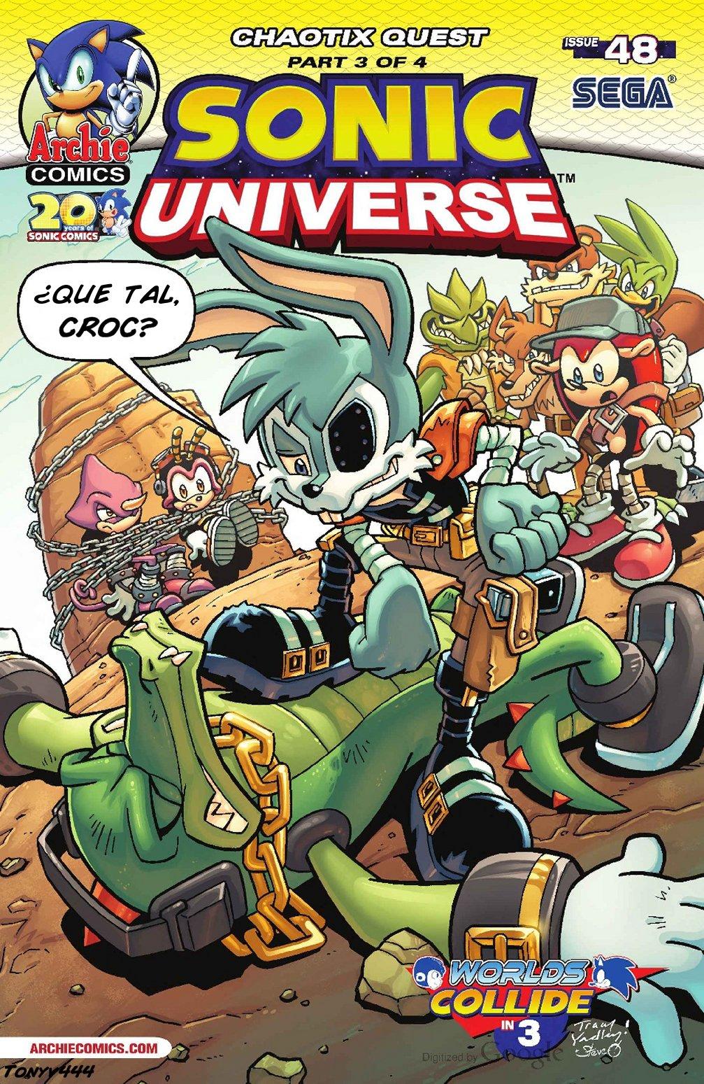 Actualización: 23/01/2018: Se agrega Sonic Universe #48 por Tonyv444 para The Tails Archive y La casita de Amy Rose. ¡Los Chaotix viajan por el mundo en busca de Mighty y Ray! El sendero los lleva a Sand Blast City y a las garras de los infames Sand Blasters. El caso toma un giro inesperado a medida que se hilan las mentiras y se traman mas planes. ¡Y Mighty toma una decisión de todo o nada!