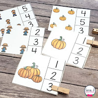 Fall Clip Cards