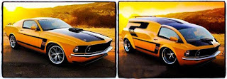 Cocept Custom Modification Ford Mustang Transform Into Van