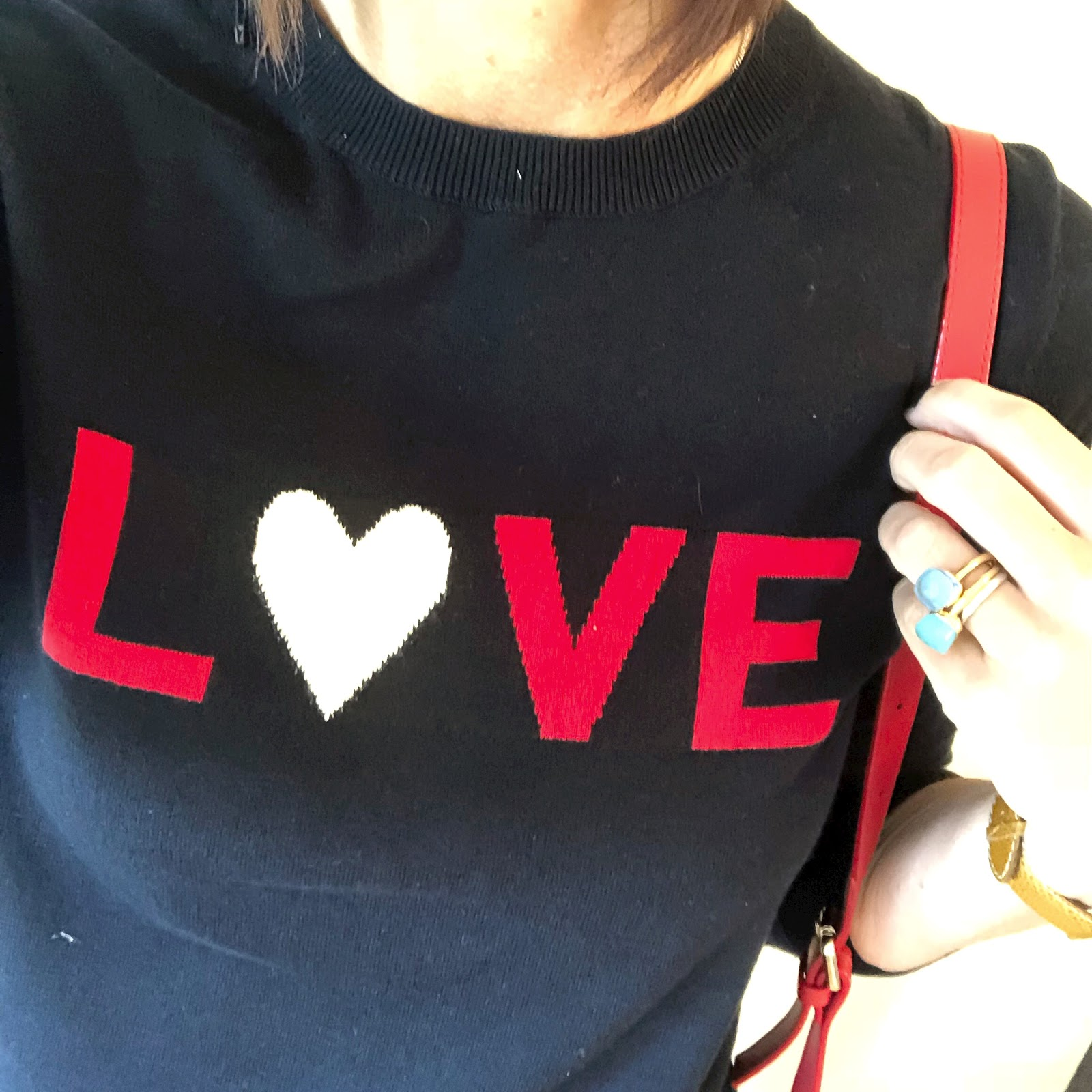 my midlife fashion, whistles navy love logo jumper, uterque mock croc cross body bag, zara cropped distressed jeans, j crew suede tassel flat shoes