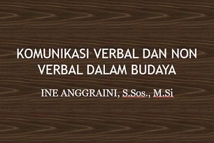 KOMUNIKASI VERBAL DAN NONVERBAL DALAM BUDAYA