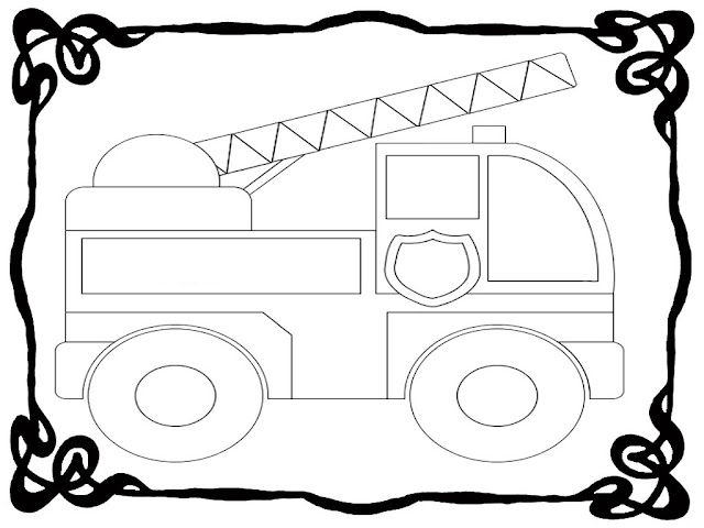 Fire Truck Coloring Pages Preschoolers