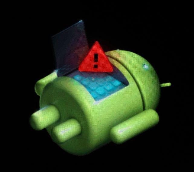 android с восклицательным знаком recovery