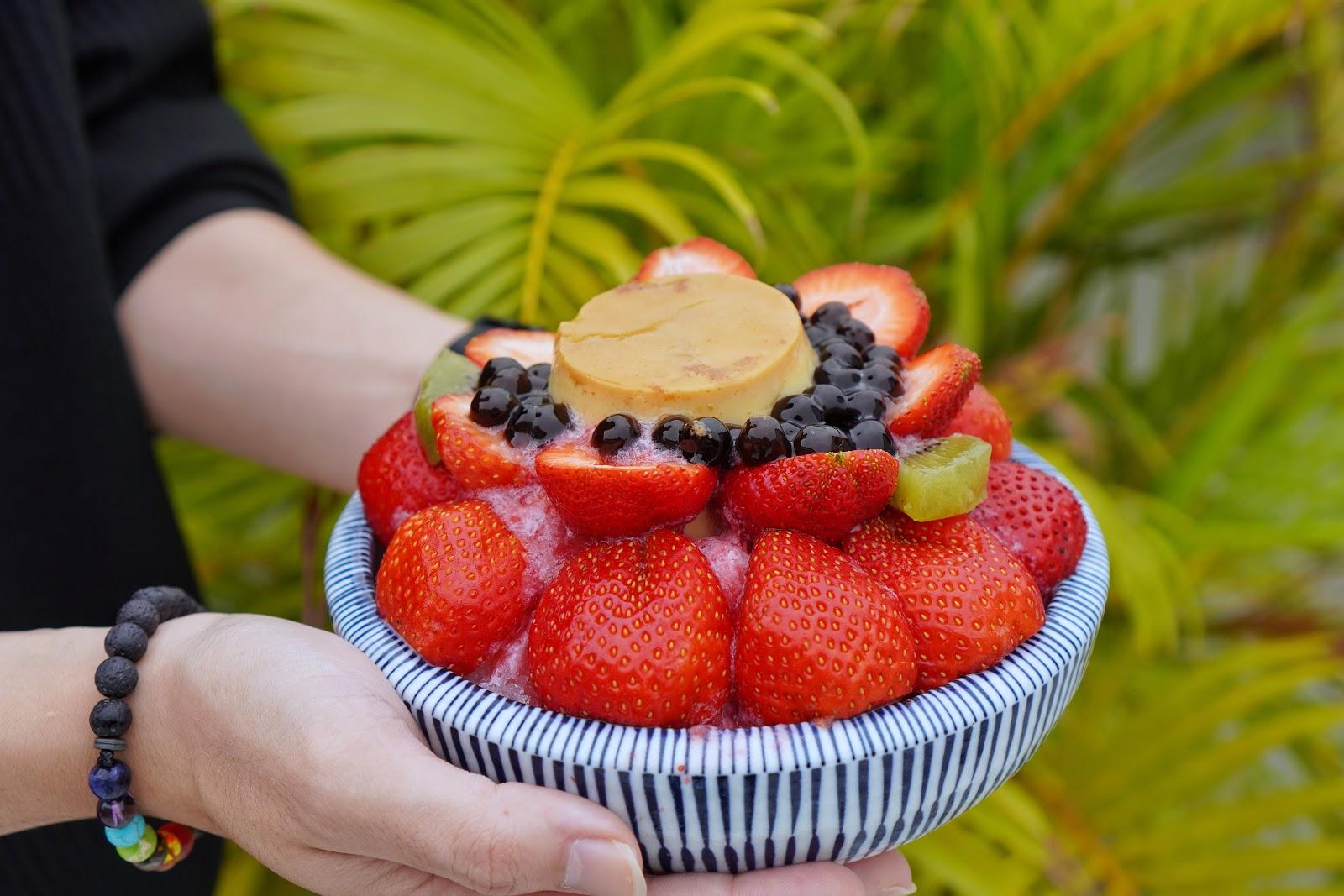 台南安平區美食【南泉冰菓室】草莓布丁冰