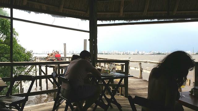 A vista de Belém do Pará do restaurante