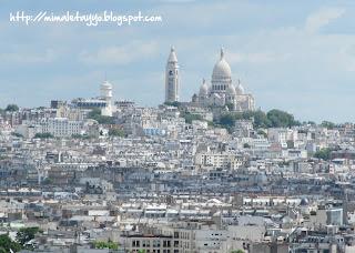 Sacre Coeur desde el Arco de Triunfo