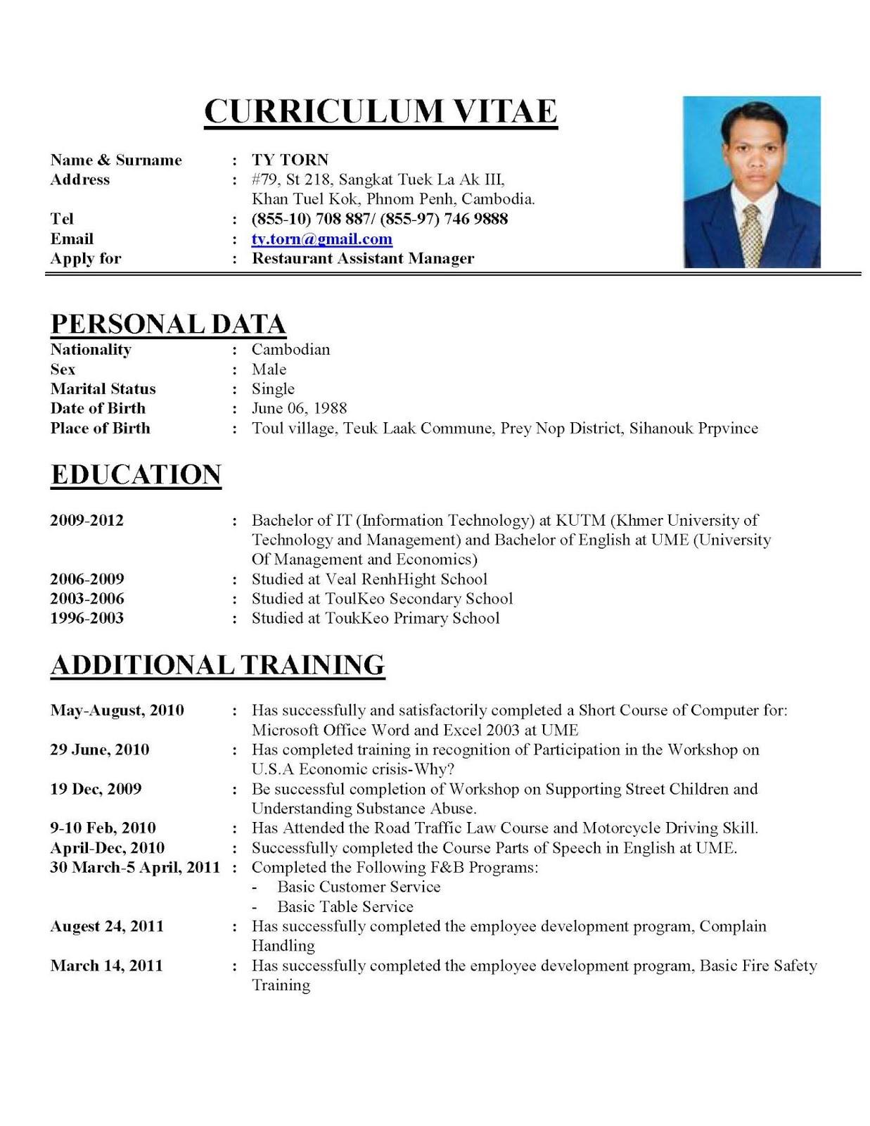 current resume format 2018 Oylekalakaarico