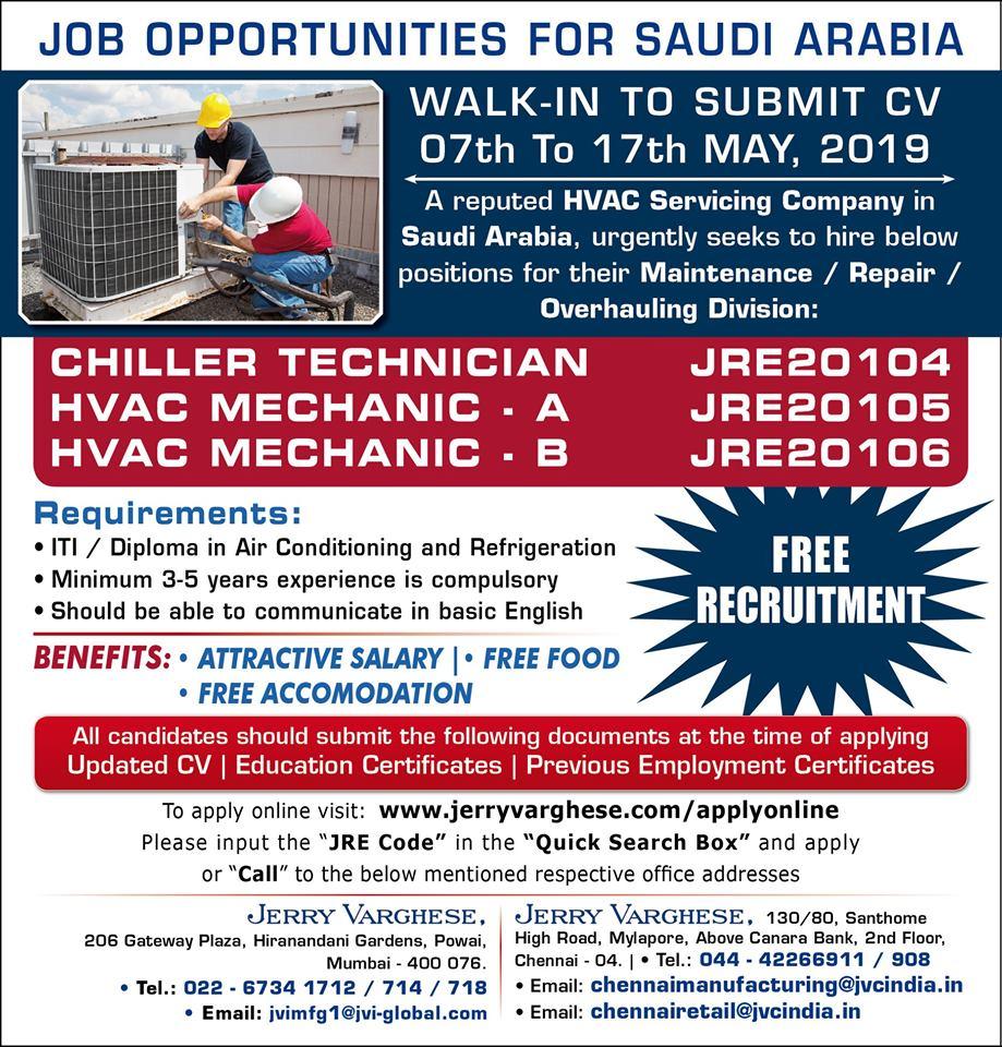 Job Opportunities for Saudi Arabia