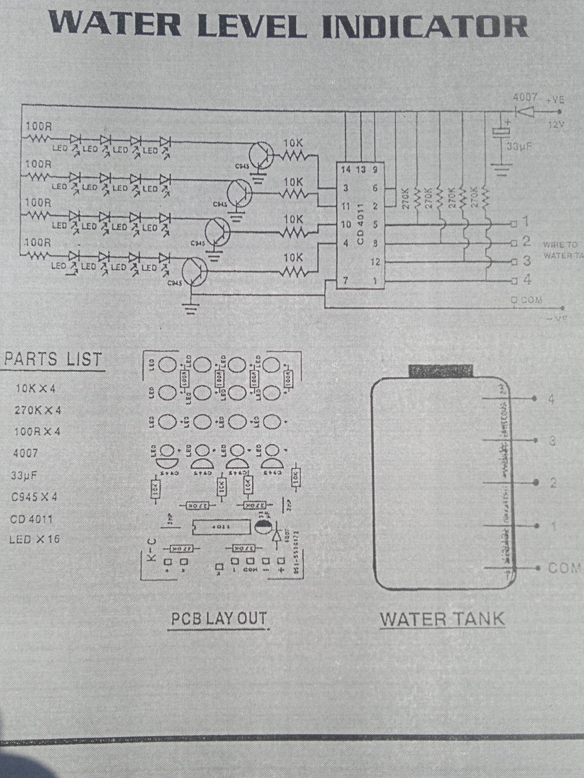 Mobile Zone Water Level Indicator Engineering Project