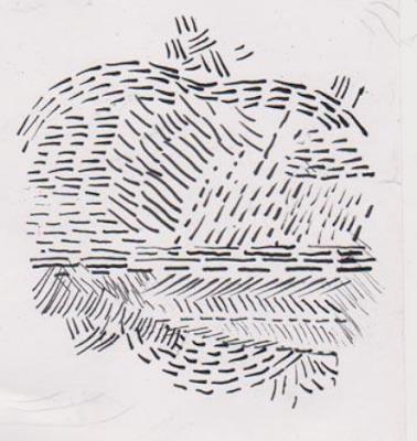 Gambar Eksplorasi/eksperimen teknik goresan patah-patah