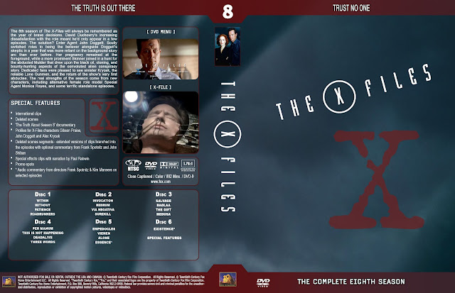 The X Files Season 8 DVD Cover