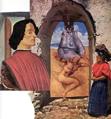 Surreal collage by Claudia Mazzie-Ballheim