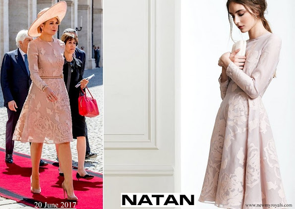 Queen Maxima wore NATAN Dress Spring Summer 2017 Collection