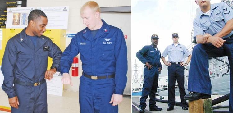 ВМС США прощається з синьою камуфльованою формою