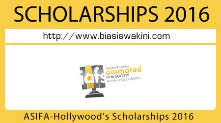 ASIFA-Hollywoods Animation Scholarships 2016