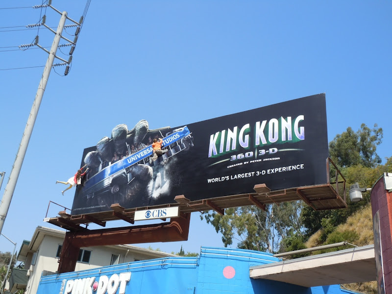 Universal's King Kong 3D billboard Sunset Strip