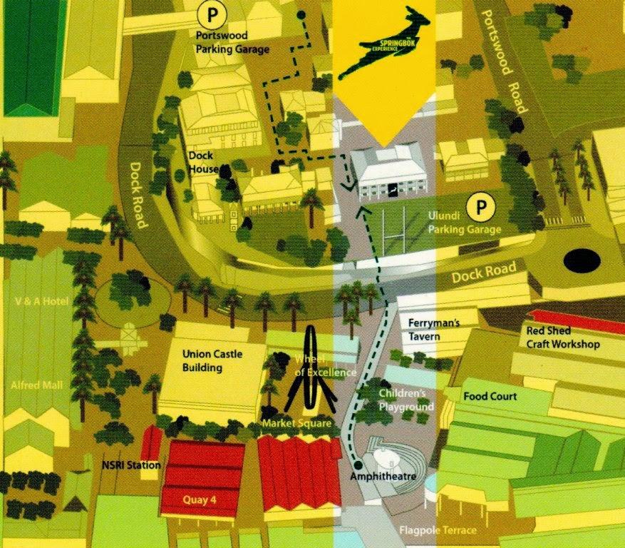 mapa The Springbok Experience