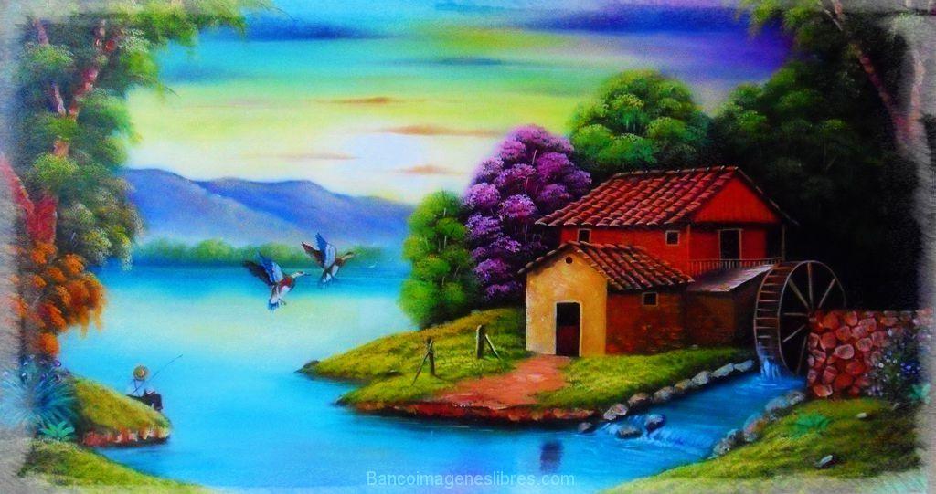 Dibujos De Paisajes En Color: Dibujos A Color Bonitos De Paisajes