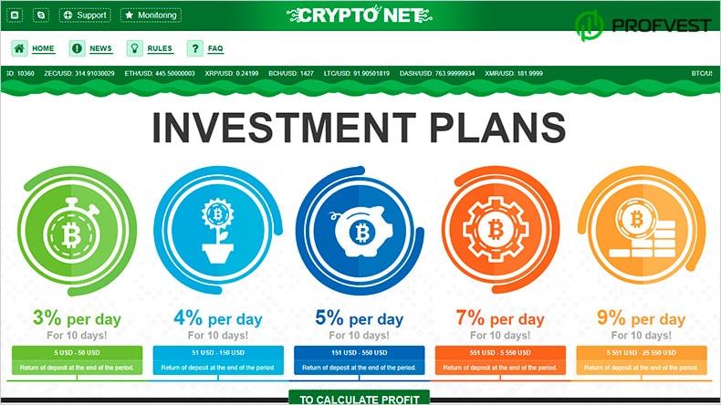 Crypto Net обзор и отзывы HYIP-проекта