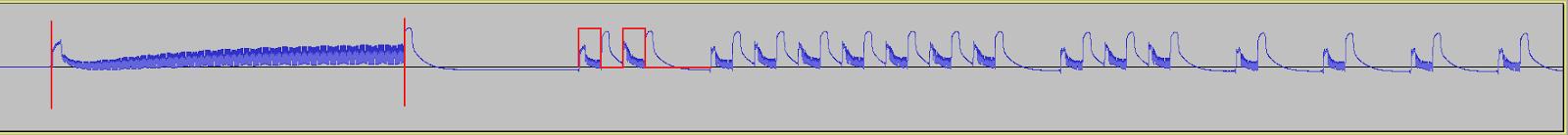 IR Waveform sampled at 192 kHz - Audacity screenshot