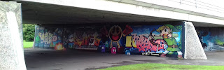 Pac-Man video game graffiti in Tamworth