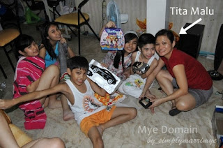 Christmas gift giving from SANTA tita