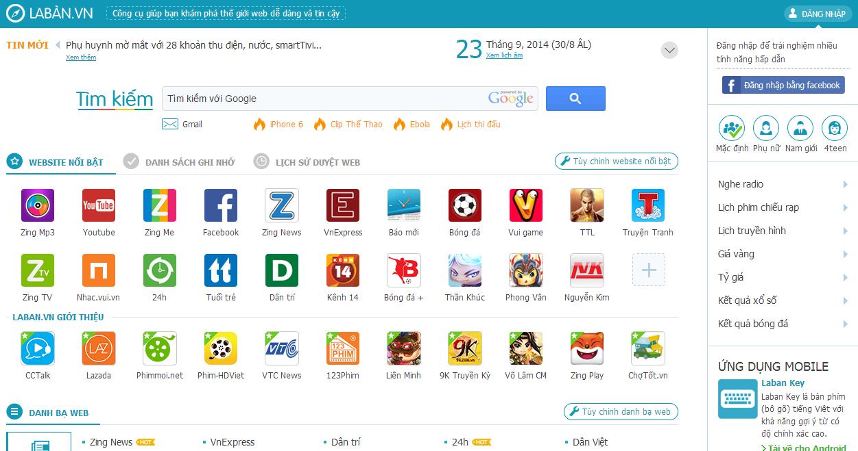 La Bàn.vn cũng là một trong những danh bạ website nổi tiếng
