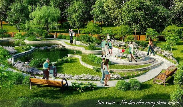 Sân vườn chung cư Lộc Ninh