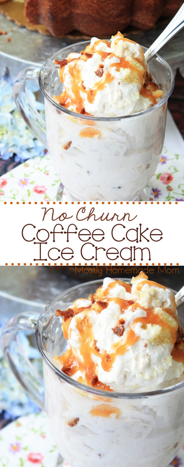No Churn Coffee Cake Ice Cream recipe