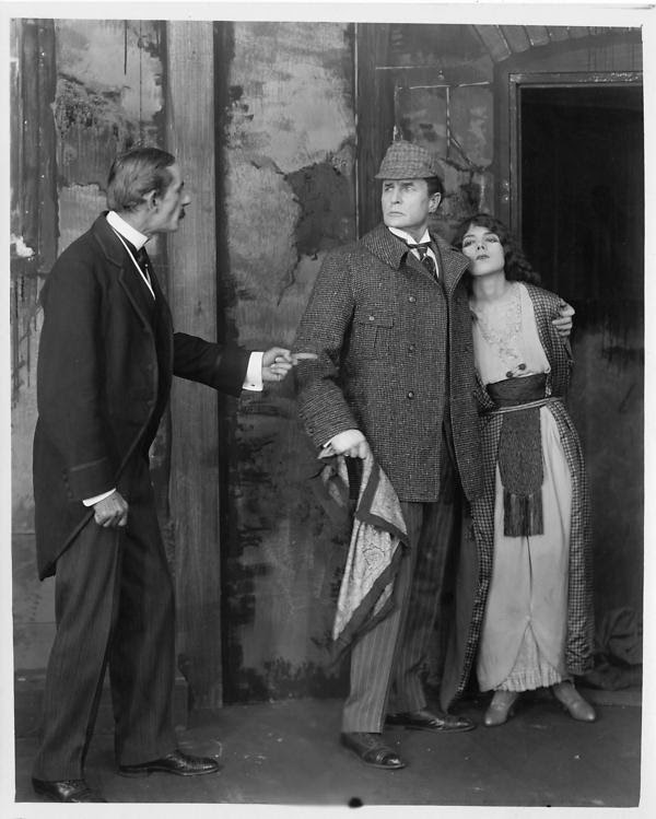 William Gillette as Sherlock Holmes in a 1916 studio still from the film