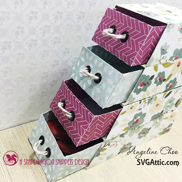 ScrappyScrappy: SVG Attic Stack of Drawers #scrappyscrappy #svgattic #trendytwine #drawers #papercraft #svg #cutfile #papercraft