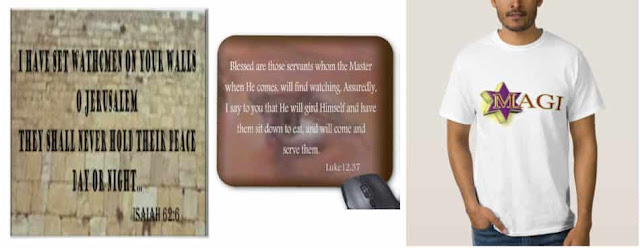 Watchman on Wall poster Isaiah 62:6, Blessed are those servants Luke 12:37 and Magi T Shirt-Bible Prophecy gift and novelty item