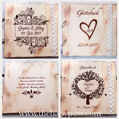 The Babypass Gastebuch Zur Hochzeit Personalisiert Mit Gravur