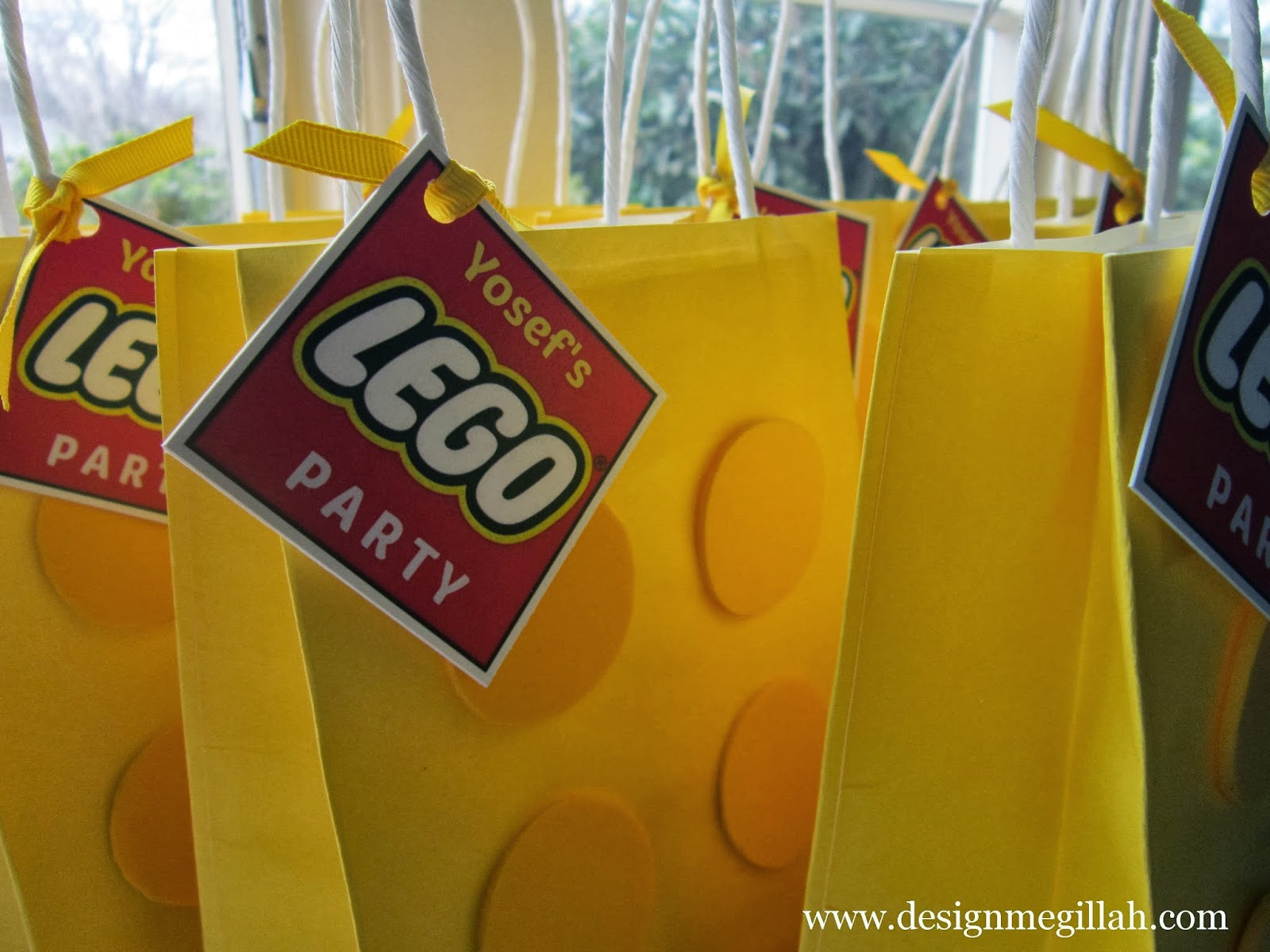 Treat Bags For A Lego Birthday