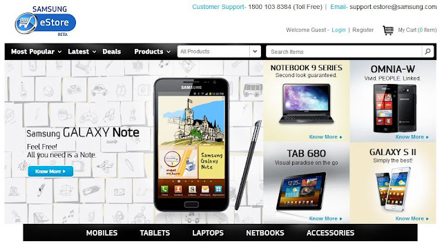 Samsung eStore Website Launches in India