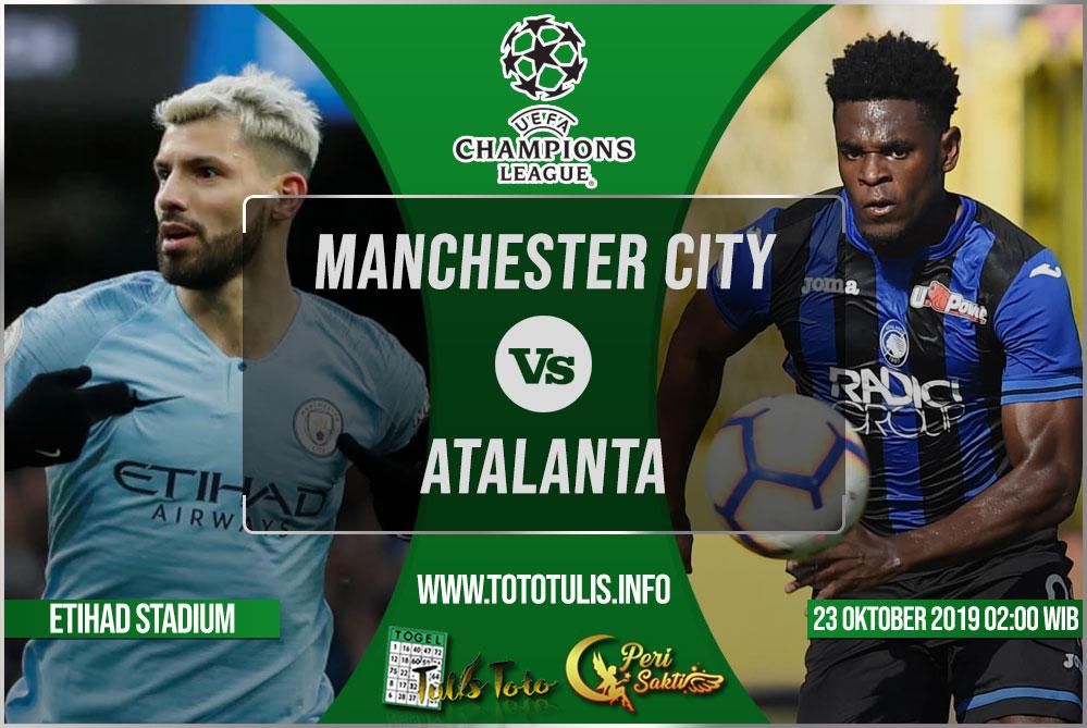Prediksi Manchester City vs Atalanta 23 Oktober 2019