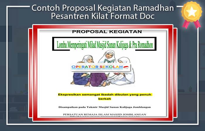 Contoh Proposal Kegiatan Ramadhan Pesantren Kilat Format Doc Operator Sekolah