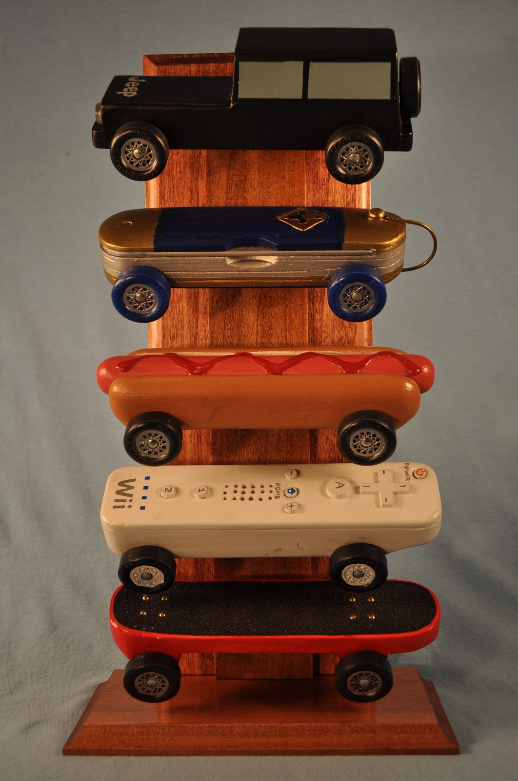 Marginalizing Morons Pinewood Derby Car Displays