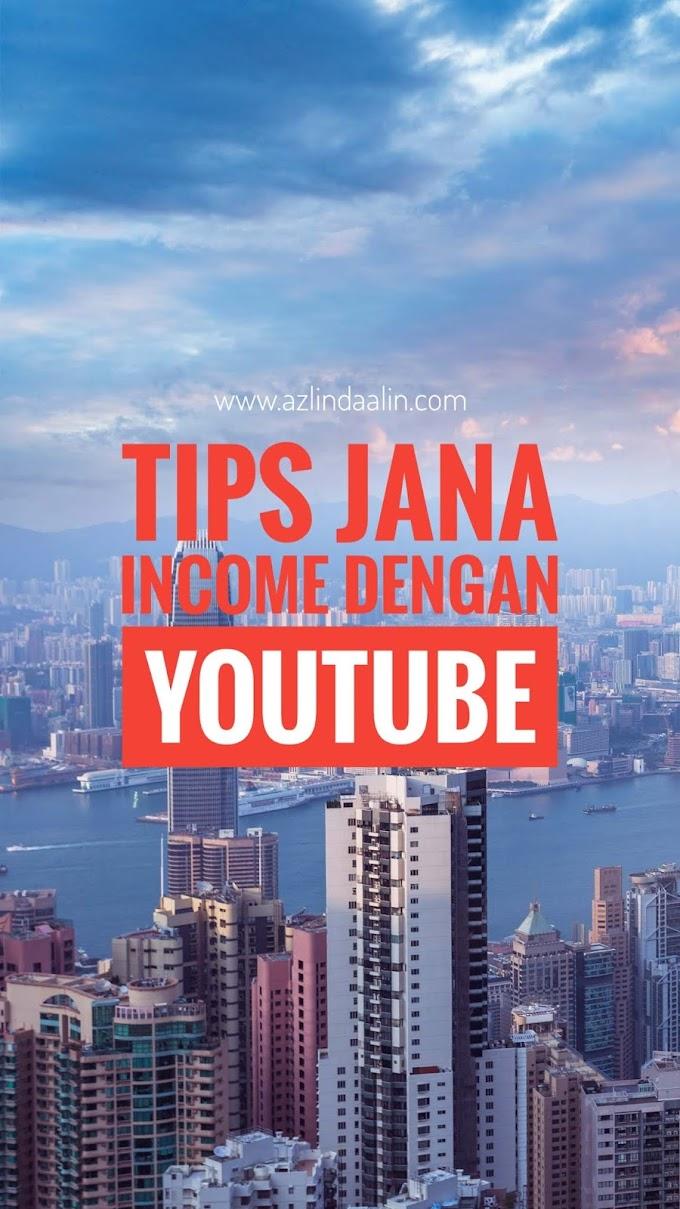 TIPS JANA INCOME DENGAN YOUTUBE