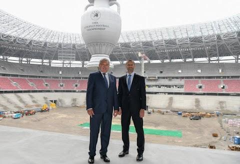 Az UEFA elnöke elégedett az új Puskás Stadionnal