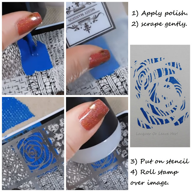 Basic stencil technique with Messy Mansion's stencil kit