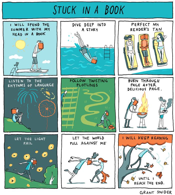 TStuck in a Book from Grant Snider