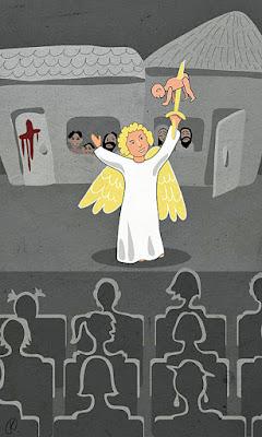 Osterfeiertag und Jesus tot lustig