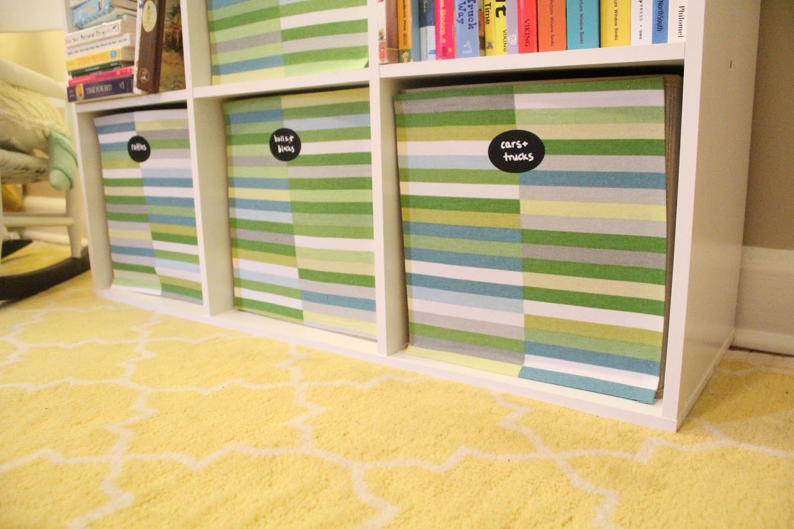 Ten June How To Spruce Up Cloth Storage Bins With Fabric