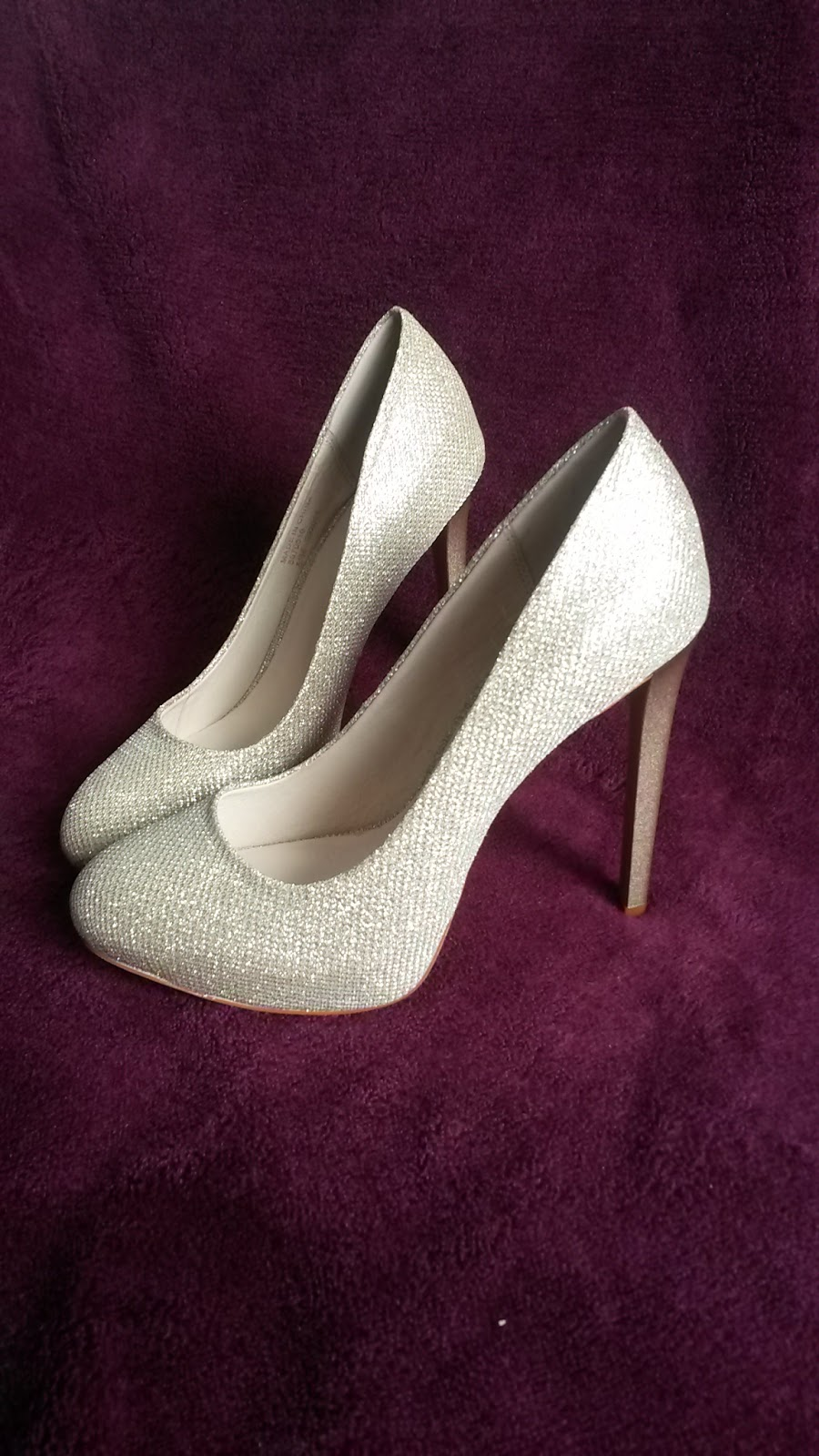 Silver heeled shoes