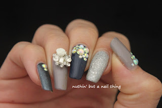 nail art design idea embelishment bling diamante