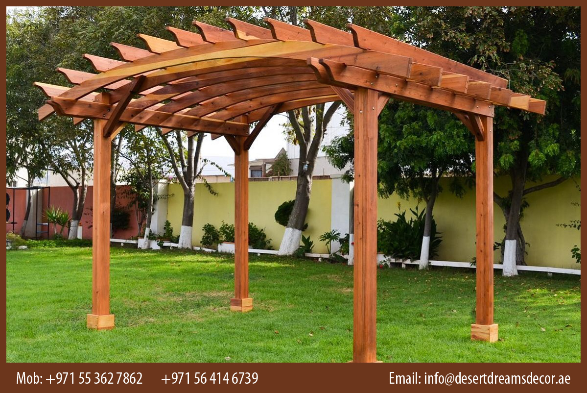 Solid roof pergola plans in addition park bench picnic table moreover - Garden Pergola In Uae Desert Dreams Decor Garden Wooden Pergola In Uae 10