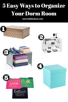 5 Easy Ways to Organize Your Dorm Room