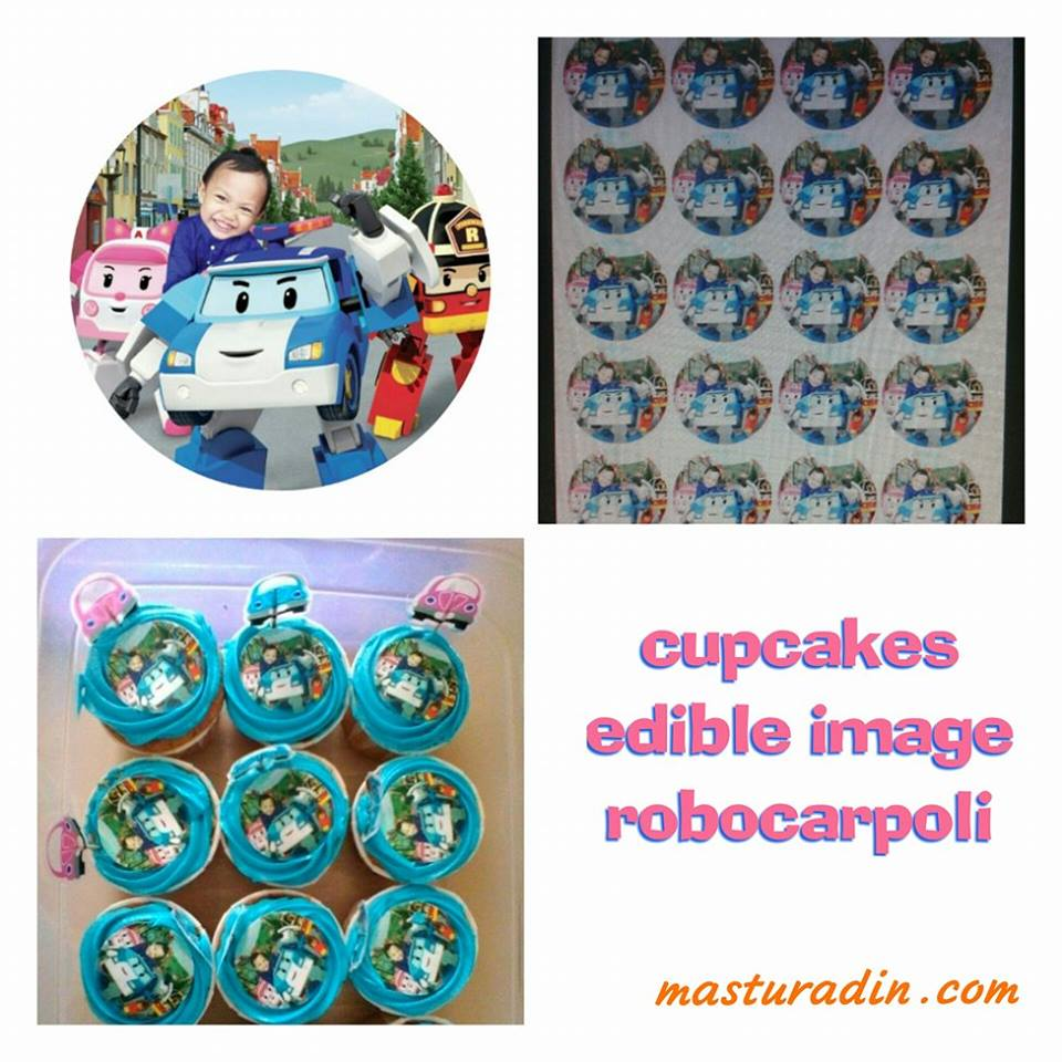tema robocarpoli, sambutan hari lahir, birthday party, 3D cake robocarpoli, edible image cupcakes, mini burger homemade