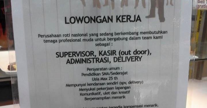 Lowongan Kerja PT. Roti Nusantara Prima (Superoti)
